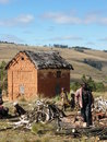 Malagasy highland house Royalty Free Stock Photo