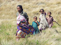 Malagasy mother with children Royalty Free Stock Photography