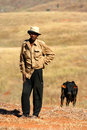 Malagasy shepherd Royalty Free Stock Photography