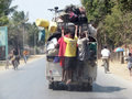 Malagasy transportation in urban area Stock Image