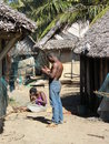 Malagasy Village Stock Photo