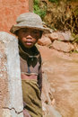 Malagasy young boy of ethnicity merina in a village on may near antananarivo in the highlands of madagascar Royalty Free Stock Photo
