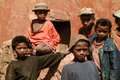 Malagasy young boys of ethnicity merina in a village on may near antananarivo in the highlands of madagascar Royalty Free Stock Photos