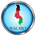 Malawi Round Button Stock Photo