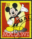 Malawi shows mickey mouse circa a stamp printed in circa Royalty Free Stock Photography