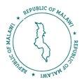 Malawi vector map.