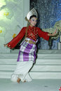 Malay girl dancer in traditional dress Stock Image