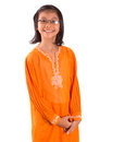 Malay girl in traditional dress ii asian young a the baju kurung Royalty Free Stock Images