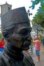 Malay merchant`s statue, Singapore Royalty Free Stock Photo
