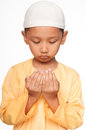 Malay muslim boy wearing islamic attire Stock Image