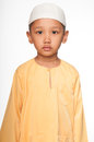 Malay muslim boy wearing islamic attire Stock Photography