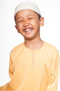 Malay muslim boy wearing islamic attire Royalty Free Stock Photography