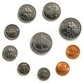 Malaysia Coins - macro Royalty Free Stock Photo