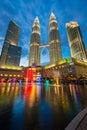 Malaysia - 12 Febuary 2017 :: Petronas tower symbol of Kuala lum