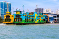 Malaysia ferry carrying passengers penang feb docking at penang island terminal it is one of penang tourism heritages Royalty Free Stock Image