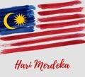 Malaysia Independence day - Hari Merdeka holiday Royalty Free Stock Photo