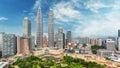 Malaysia, Kuala Lumpur skyline Royalty Free Stock Photo