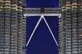 Malaysia; Kuala lumpur; twin towers of petronas Royalty Free Stock Photo