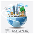 Malaysia Landmark Global Travel And Journey Infographic