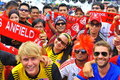 Malaysia and Liverpool football fan Stock Photos