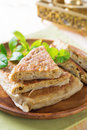 Malaysia muslim food murtabak martabak or on dining table Stock Photography