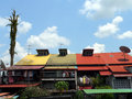 Malaysia. Painted Roofs Royalty Free Stock Photo