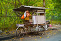 MALAYSIA, PENANG, GEORGETOWN - CIRCA JUL 2014: Mobile vendor's f Royalty Free Stock Photo