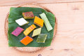 Malaysia popular assorted sweet dessert or known as kuih kueh Royalty Free Stock Photo