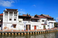 Malaysia Riverside Traditional House Royalty Free Stock Photo