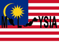 Malaysia text with map Stock Photography
