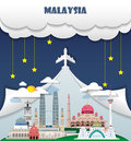 Malaysia travel background Landmark Global Travel And Journey In Royalty Free Stock Photo