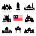 Malaysia travel landmarks vector and illustration Stock Image