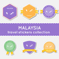 Malaysia travel stickers collection.