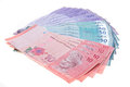 Malaysian currency on white backgorund Stock Image