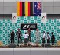 Malaysian F1 Grand Prix Winner Royalty Free Stock Photo