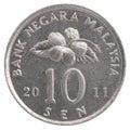 10 Malaysian sen coin Royalty Free Stock Photo