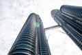 Malaysian skyscraper, KLCC. Kuala Lumpur, Malaysia Royalty Free Stock Photo