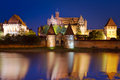 Malbork castle at night, Poland Royalty Free Stock Photography