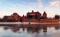 Malbork Schloss in Polen Stockfoto