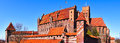 Malbork teutonic castle poland in this was an ordnungsburg or a of the knights it is remarkably well preserved and sits a Stock Images