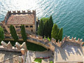 Malcesine castle, Italy Stock Images
