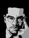 Malcolm X Royalty Free Stock Photo