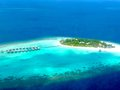 Maldive Island from above Royalty Free Stock Photo