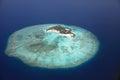 Maldive island feydhoo finolhu aerial view of the Royalty Free Stock Photo