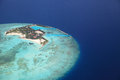 Maldive island feydhoo finolhu aerial view of the Royalty Free Stock Images