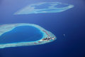 Maldive island giraavaru aerial view of the Royalty Free Stock Photography