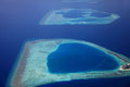 Maldive island giraavaru aerial view of the Stock Image