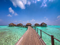 Maldive island resort Stock Images