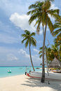 Maldives beach resorts Royalty Free Stock Photo