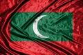Maldives flag.flag on background